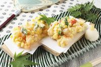 玉蜀黍と海老のかき揚げ