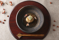ズワイガニの蓮根まんじゅう 10455001126| 写真素材・ストックフォト・画像・イラスト素材|アマナイメージズ