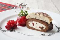 クリスマス風ロールケーキ