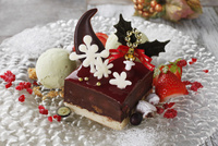 クリスマスのチョコレートケーキ