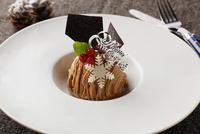 クリスマスのモンブランケーキ