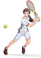 テニス少年その2 10456000096| 写真素材・ストックフォト・画像・イラスト素材|アマナイメージズ