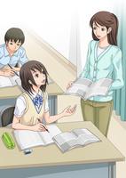 講習を受ける女子学生