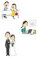 女性の一生 大学から就職から結婚