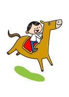 馬に乗る男の子