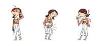 中高生女子の医療 熱 腹痛 咳 10464000012| 写真素材・ストックフォト・画像・イラスト素材|アマナイメージズ
