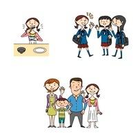 中高生女子の健康と家族と学校生活 10464000015| 写真素材・ストックフォト・画像・イラスト素材|アマナイメージズ