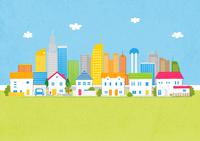 住宅と街イメージ 10467000144| 写真素材・ストックフォト・画像・イラスト素材|アマナイメージズ