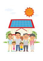 住宅の太陽光発電と三世代家族