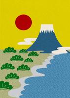 初日の出(三保の松原と富士山)