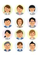 働く人々  ビジネス集団