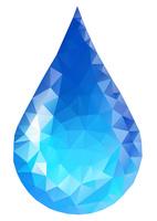 水イメージ 水滴 ポリゴン風