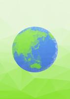 エコイメージ 地球 ポリゴン風