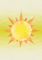 太陽 ポリゴン風