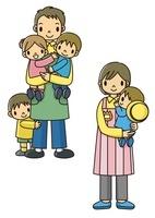 園児を抱っこする保育士さん