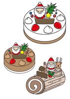クリスマスケーキとブッシュ・ド・ノエル