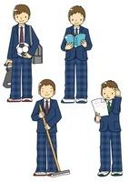 制服姿の男子中学生 10468000054| 写真素材・ストックフォト・画像・イラスト素材|アマナイメージズ