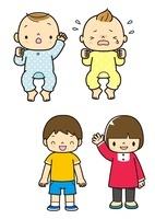 赤ちゃんと幼児の全身 10468000077| 写真素材・ストックフォト・画像・イラスト素材|アマナイメージズ