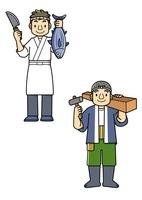 魚屋さんと大工さん