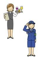 ウエイトレスと婦人警官