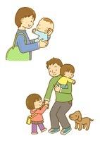 育児をするお父さんと幼児 10468000112| 写真素材・ストックフォト・画像・イラスト素材|アマナイメージズ