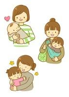 子育てをするママと幼児
