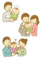 子育てをする夫婦と赤ちゃん 10468000117| 写真素材・ストックフォト・画像・イラスト素材|アマナイメージズ
