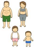 メタボリックな両親と子供 10468000197| 写真素材・ストックフォト・画像・イラスト素材|アマナイメージズ