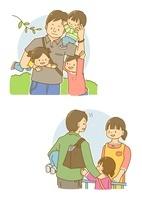 子供と遊ぶお父さん・保育園送迎をするお父さん 10468000215| 写真素材・ストックフォト・画像・イラスト素材|アマナイメージズ
