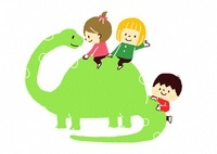 恐竜と子供たち