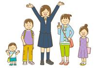 幼児と小学生中学生の男女