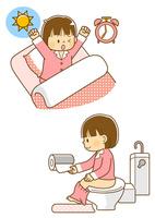 朝起きる女の子、トイレに行く女の子 10468000310| 写真素材・ストックフォト・画像・イラスト素材|アマナイメージズ