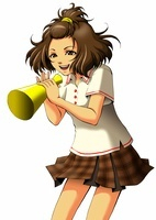 メガホンを持って応援する女子学生 10469000005| 写真素材・ストックフォト・画像・イラスト素材|アマナイメージズ