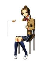 ホワイトボードを持つ少女 10469000011| 写真素材・ストックフォト・画像・イラスト素材|アマナイメージズ