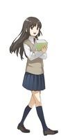 本を持っている女子学生