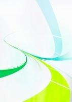 緑と青の流れるライン