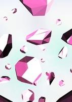 浮遊しているピンクの石