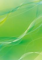グリーンの背景と緩やかな白ライン