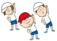 体操している子供たち 10471000024| 写真素材・ストックフォト・画像・イラスト素材|アマナイメージズ