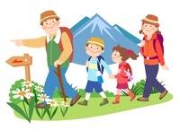 親子でハイキング
