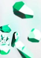 手前に向かってくる宝石群-緑