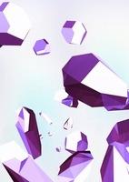 ランダムに浮かぶ宝石 紫