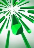 放射状に広がるバー-緑