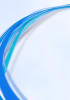 上から見おろした流れる青色のライン