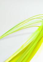 大きくカーブを描き手前に向かってくる緑・黄色のライン