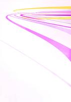 円を描くように流れる黄色やピンクの光のライン
