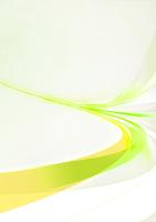 勢いのある緑色の光のライン