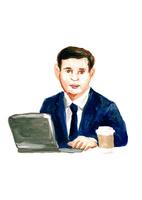 ノートパソコンを使うビジネスマン 10471000254| 写真素材・ストックフォト・画像・イラスト素材|アマナイメージズ