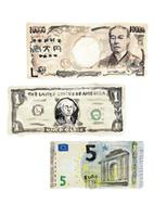 一万円札と1ドル紙幣と5ユーロ紙幣 10471000255| 写真素材・ストックフォト・画像・イラスト素材|アマナイメージズ