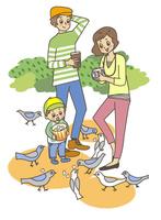 鳩と親子 10471000262| 写真素材・ストックフォト・画像・イラスト素材|アマナイメージズ